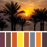 Paleta de la salida del sol imagenes de archivo