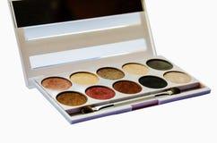 Paleta de la sombra para el maquillaje imagen de archivo