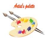 Paleta de los artistas Imagen de archivo