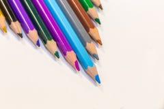 Paleta de los lápices del colorante en una forma de V Imágenes de archivo libres de regalías