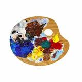 Paleta de los pintores Imagen de archivo libre de regalías