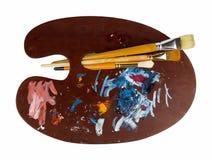 Paleta de madera del arte imagenes de archivo