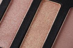 Paleta de sombras de ojos rosadas, cierre para arriba Imagen de archivo libre de regalías