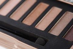 Paleta de sombras para os olhos cor-de-rosa Fotos de Stock
