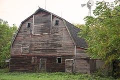 Paleta de tiempo de madera vieja del granero Imagenes de archivo