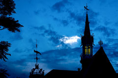 Paleta de tiempo en el cielo sobre Valencia Imagenes de archivo
