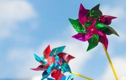 Paleta de viento colorida foto de archivo