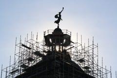 Paleta de viento de señora Liberty en palacio de justicia Fotografía de archivo