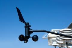 Paleta del anemómetro en la estación meteorológica foto de archivo libre de regalías