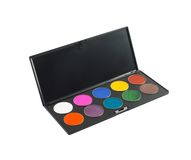 Paleta del maquillaje Imagen de archivo libre de regalías