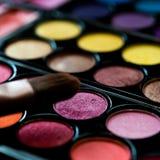 Paleta del maquillaje Foto de archivo
