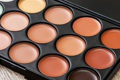 Paleta del maquillaje Imagen de archivo