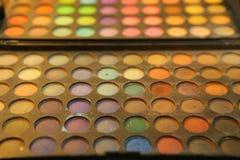 Paleta del maquillaje de la sombra de ojos Foto de archivo libre de regalías