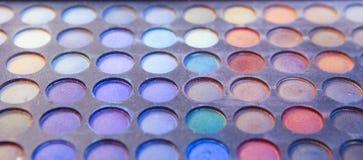 Paleta del maquillaje de la sombra de ojos Fotografía de archivo libre de regalías