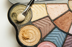 Paleta del maquillaje del color Imagen de archivo