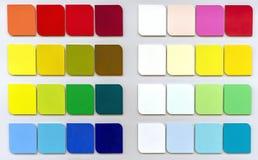 Paleta del olor del ¡de Ð para elegir la tela o la pintura Fondo de muestras del color imagen de archivo