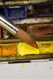 Paleta del Watercolour Imágenes de archivo libres de regalías