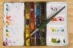 Paleta del Watercolour Imagenes de archivo