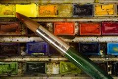 Paleta del Watercolour Fotografía de archivo