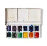 Paleta del Watercolour foto de archivo libre de regalías