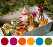 Paleta do ano novo imagens de stock