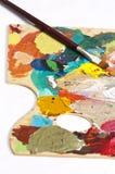 Paleta do artista Fotos de Stock
