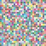 Paleta do vetor 484 cores diferentes dispersadas caoticamente em uma forma do trevo de quatro folhas ilustração do vetor