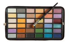 Paleta dos cosméticos no fundo branco Imagem de Stock Royalty Free