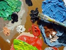 paleta dos pintores Fotografia de Stock Royalty Free