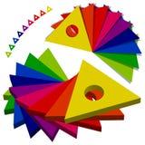 Paleta dos triângulos da cor Foto de Stock