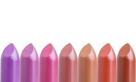 paleta kolorowe pomadki w kreskowym asortymencie odizolowywającym na bielu Obrazy Stock