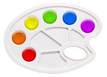 paleta plástica nova isolada no branco Imagens de Stock