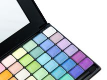 Paleta profesional del maquillaje imagen de archivo