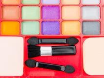 Paleta profesional del maquillaje foto de archivo libre de regalías