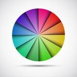 Paleta redonda del color en fondo gris Fotografía de archivo