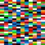 Paleta winylu kolorowy deseniowy film ilustracja wektor