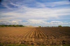 Paleta y cielo nublado cerca del lago Foto de archivo
