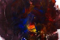 Paleta z kolorową mieszaną farby teksturą ilustracja wektor
