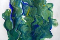 Paleta z kolorową mieszaną farby teksturą royalty ilustracja