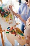 Paleta z nafcianymi kolorami zdjęcie royalty free