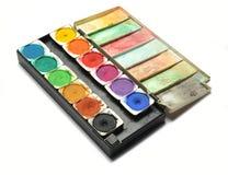 Paletas da cor de água Foto de Stock Royalty Free
