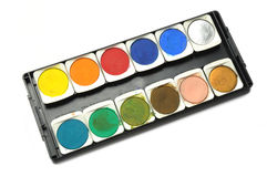 Paletas da cor de água Fotografia de Stock Royalty Free