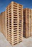 Paletas de madera Imagen de archivo libre de regalías