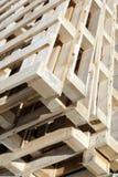 Paletas de madera Foto de archivo libre de regalías