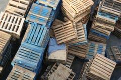 Paletas de madera Fotos de archivo libres de regalías