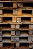 Paletas de madera Fotos de archivo