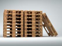 Paletas de madera empiladas Fotografía de archivo