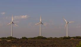 Paletas de viento en Tenedos imágenes de archivo libres de regalías