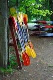 Paletas del kajak foto de archivo libre de regalías