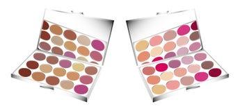 Paletas del maquillaje Imagenes de archivo